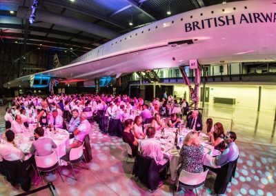 Dining beneath the wings of Concord